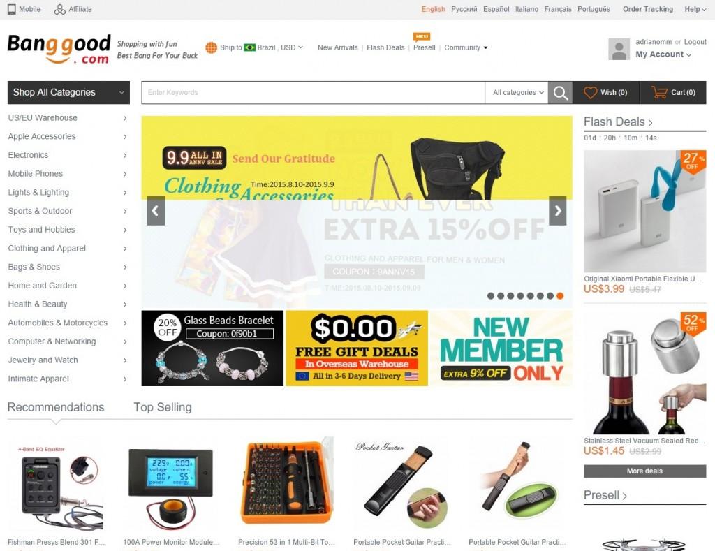 Интернет-магазин для Cool гаджеты, RC вертолет Quadcopter, Мобильный телефон, Мода на Banggood